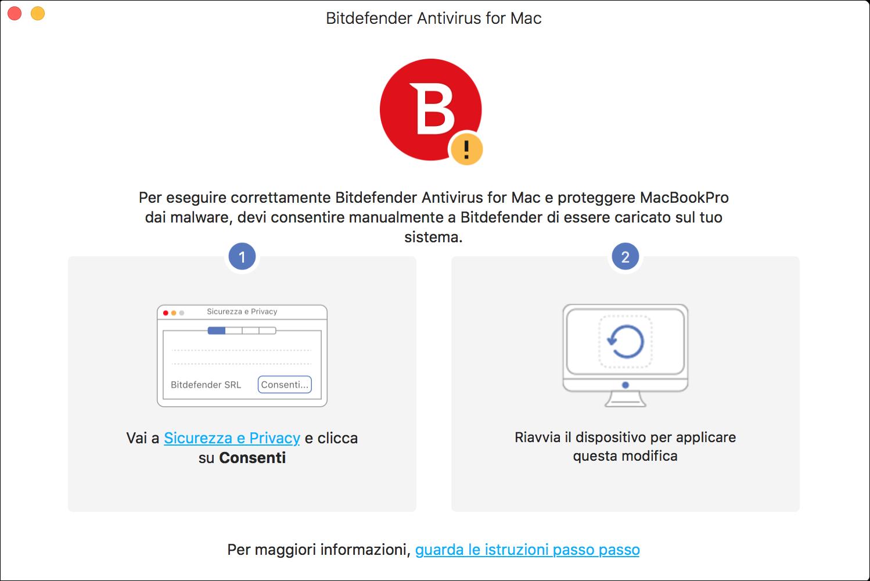 Installare bitdefender antivirus for mac - Sicurezza e Privacy