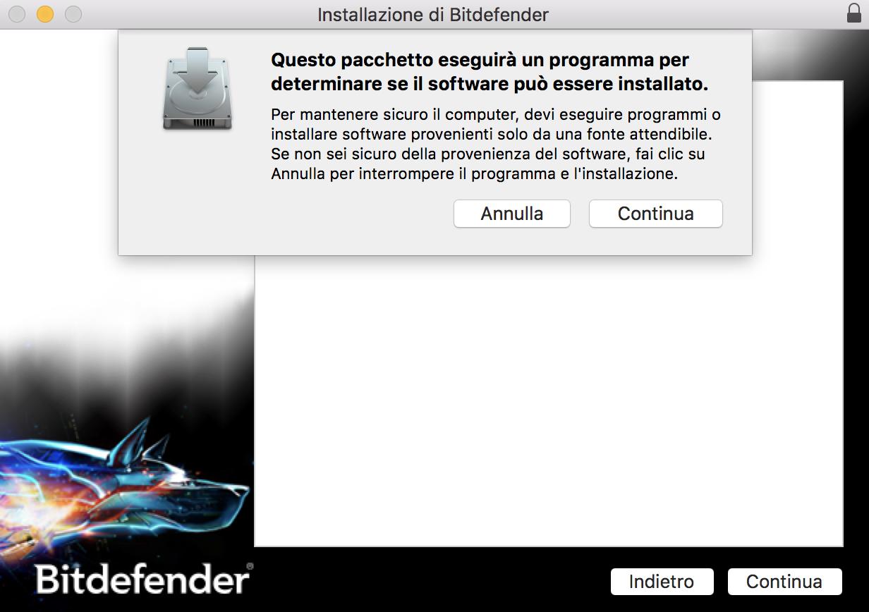 Installare Bitdefender Antivirus for Mac